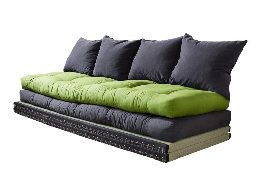 loungesofa chico 2x tatami matte 2x futon matratze 4 kissen karup ebay. Black Bedroom Furniture Sets. Home Design Ideas