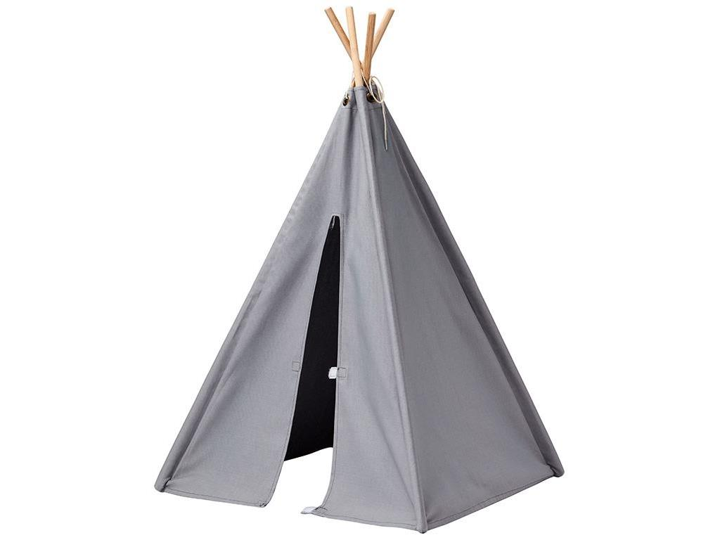 kids concept mini tipi zelt grau 82x50x50cm. Black Bedroom Furniture Sets. Home Design Ideas
