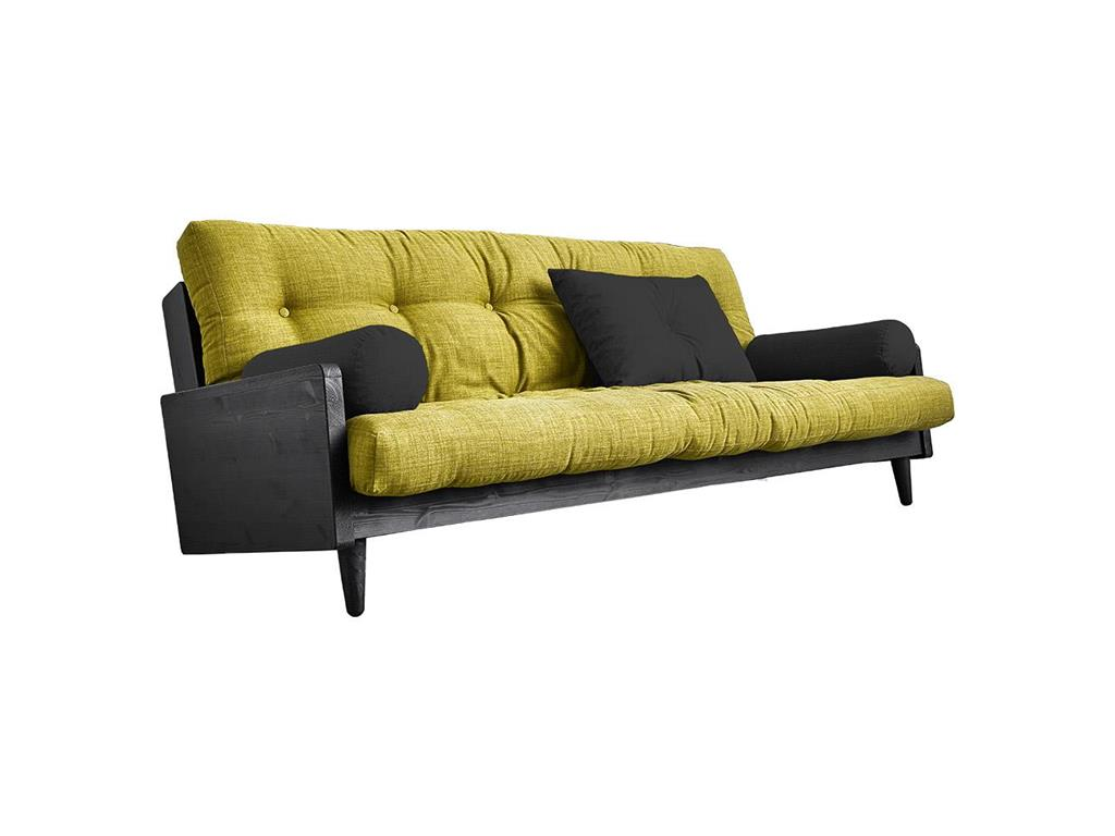 karup schlafsofa indie mit schwarzem gestell. Black Bedroom Furniture Sets. Home Design Ideas