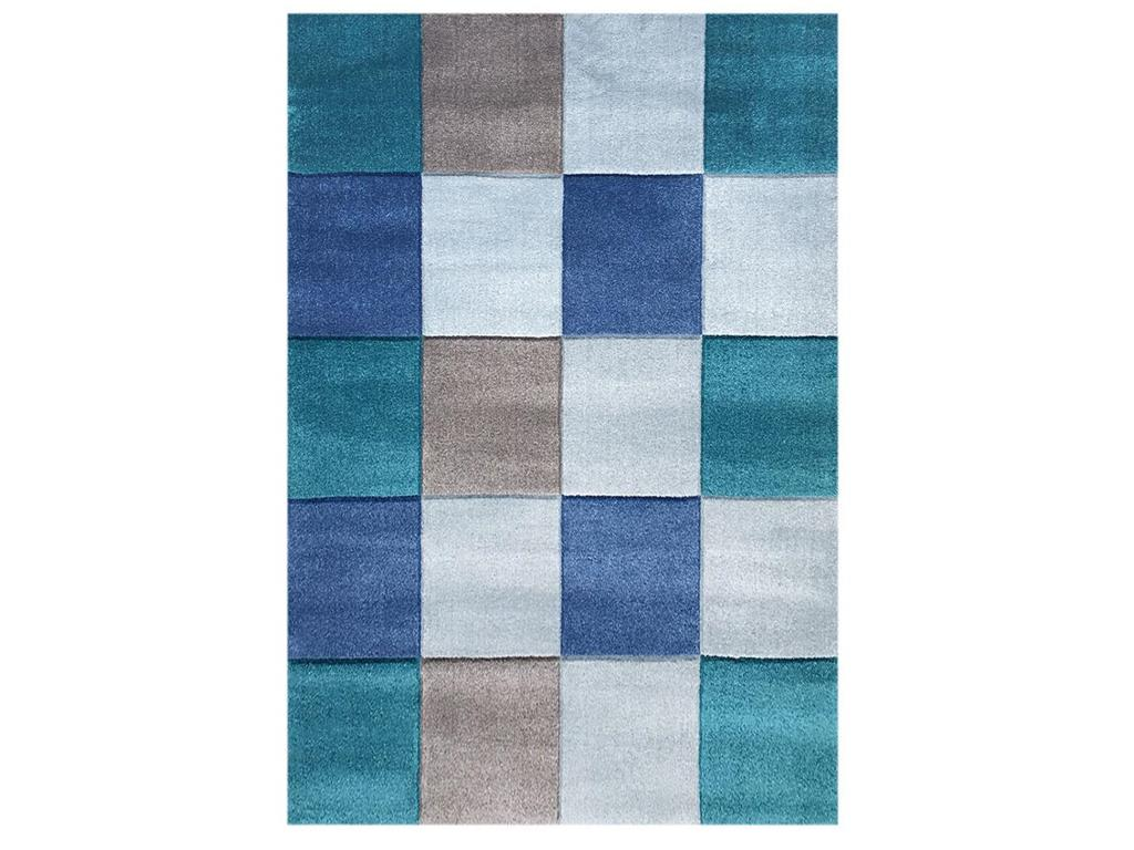 livone happy rugs teppich checker blau 120x180cm. Black Bedroom Furniture Sets. Home Design Ideas