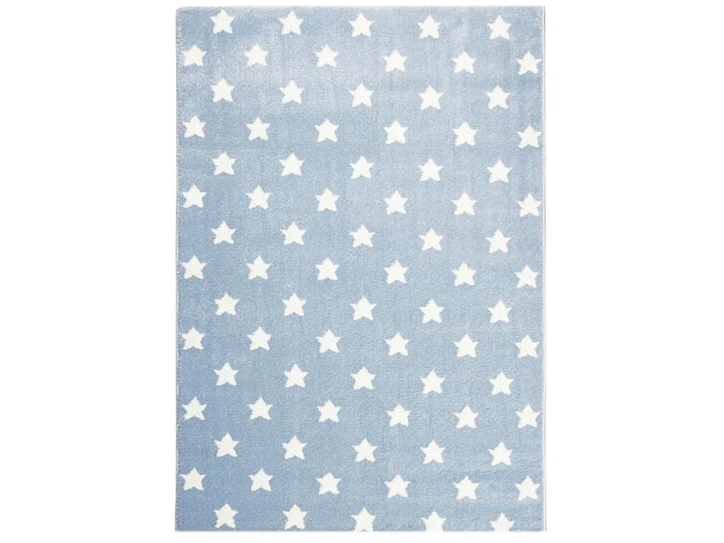 livone happy rugs teppich little stars blau wei 200x300cm. Black Bedroom Furniture Sets. Home Design Ideas