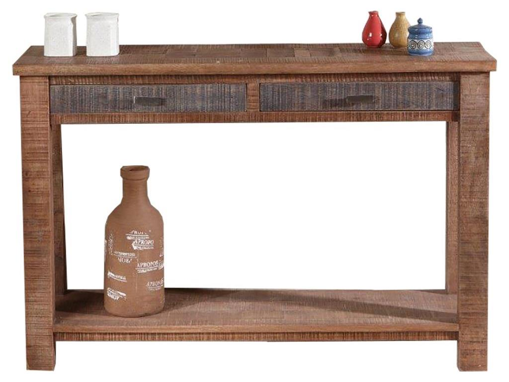 THEWOODTIMES New Rustic Consolentisch Mango Holz TW-IN6544FSC