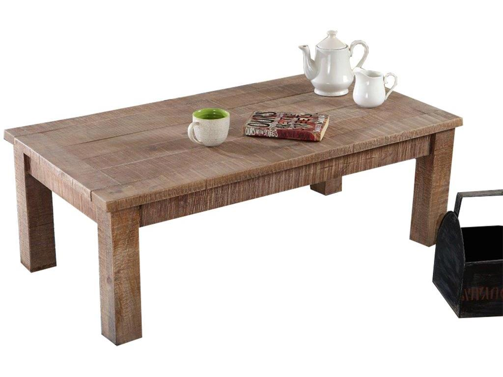 THEWOODTIMES New Rustic Couchtisch Mango Holz TW-IN6536FSC