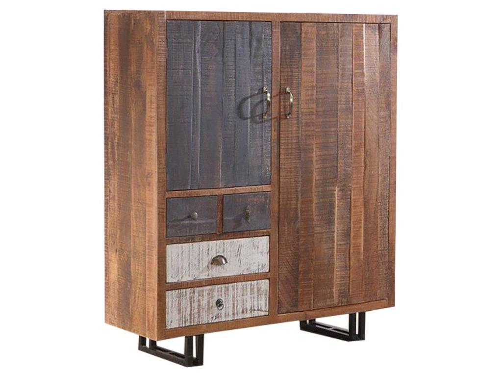 THEWOODTIMES New Rustic Kommode Mango Holz TW-IN6543FSC