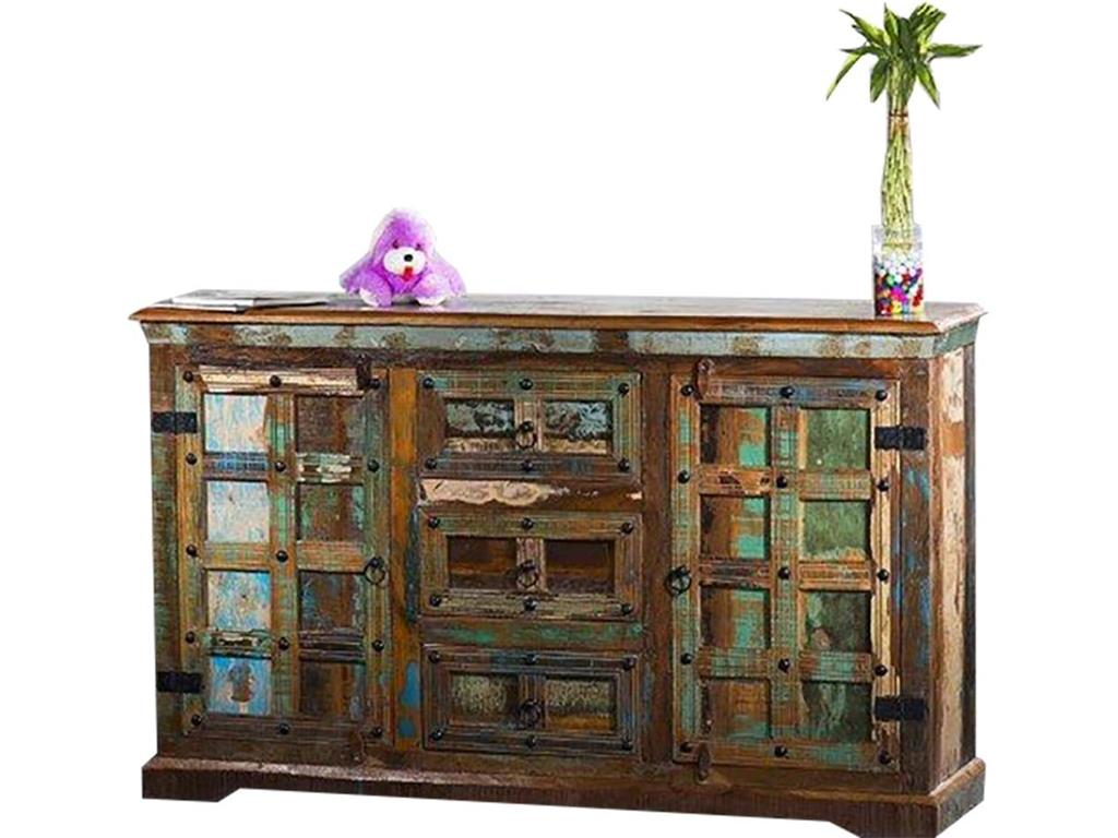 THEWOODTIMES Delhi Sideboard recyceltes Holz TW-IN8709FSC