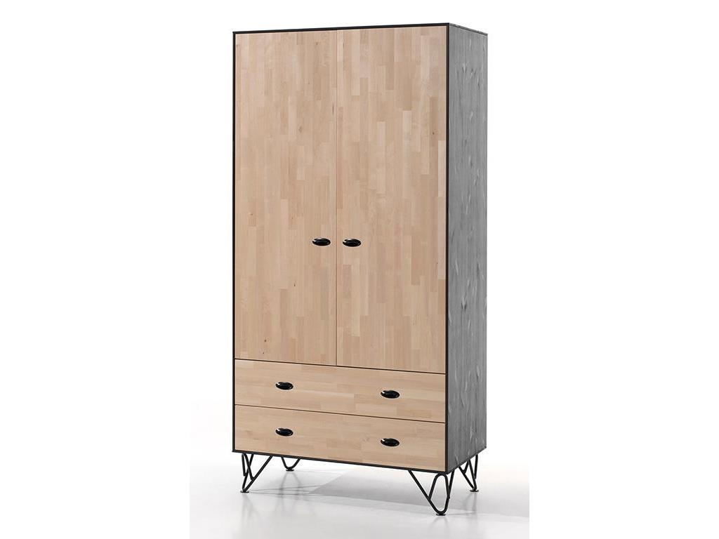 vipack william kleiderschrank 2 t rig mit 2 schubladen. Black Bedroom Furniture Sets. Home Design Ideas
