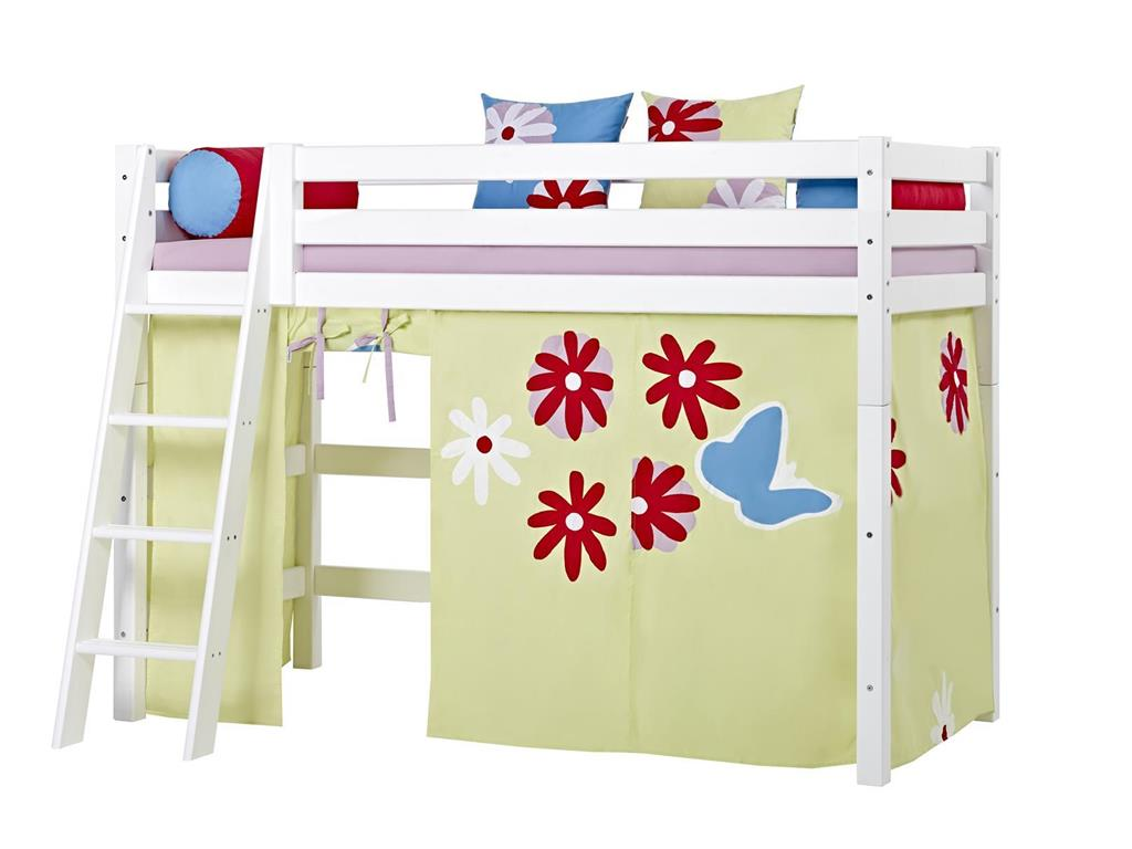 hoppekids vorhang butterfly f r hochbett midisleeper etagenbett 90x200cm hoppekids. Black Bedroom Furniture Sets. Home Design Ideas