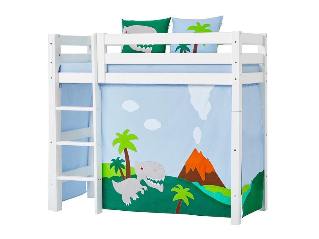 hoppekids dinosaurier vorhang f r midisleeper etagenbett 70x160cm. Black Bedroom Furniture Sets. Home Design Ideas