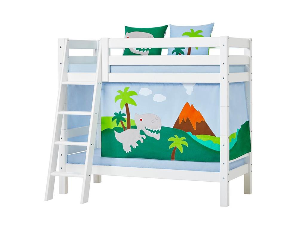 hoppekids dinosaurier vorhang f r spielbett oder. Black Bedroom Furniture Sets. Home Design Ideas