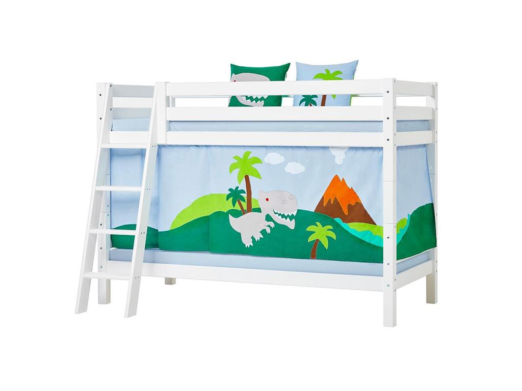hoppekids dinosaurier vorhang f r spielbett oder etagenbett 70x190cm. Black Bedroom Furniture Sets. Home Design Ideas