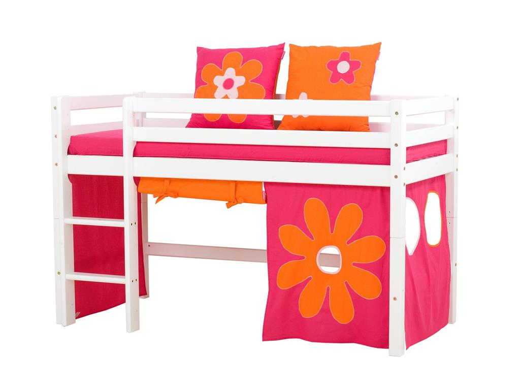 hoppekids flower power vorhang f r spielbett oder etagenbett 70x160cm. Black Bedroom Furniture Sets. Home Design Ideas