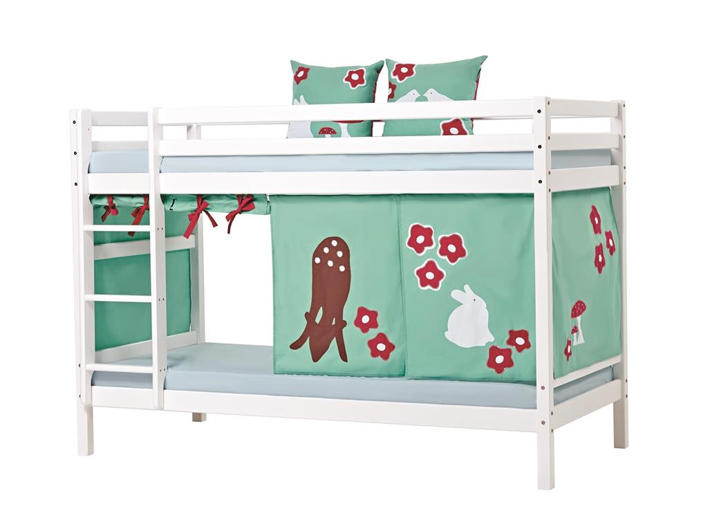 hoppekids forest vorhang f r spielbett oder etagenbett 90x200cm. Black Bedroom Furniture Sets. Home Design Ideas