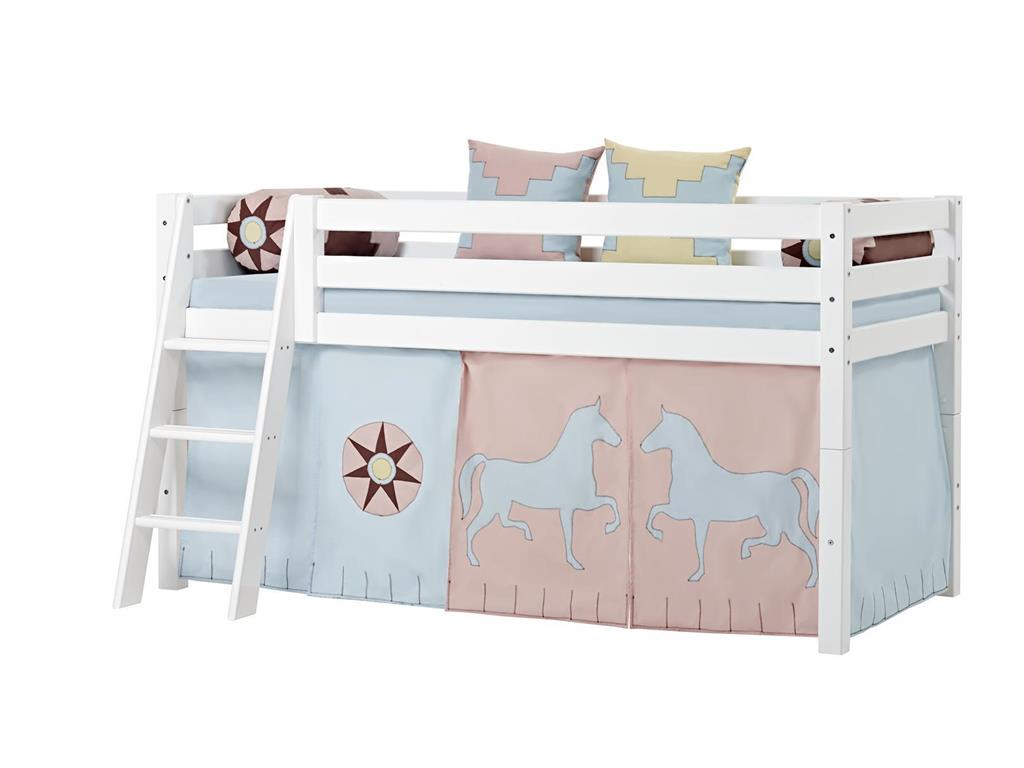 hoppekids indian girl vorhang f r spielbett oder etagenbett 70x190cm. Black Bedroom Furniture Sets. Home Design Ideas
