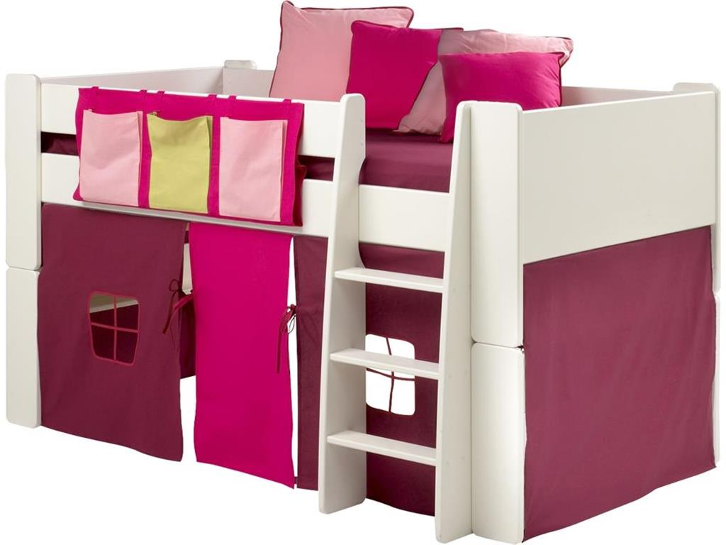 steens vorhang lila pink f r hochbett for kids. Black Bedroom Furniture Sets. Home Design Ideas