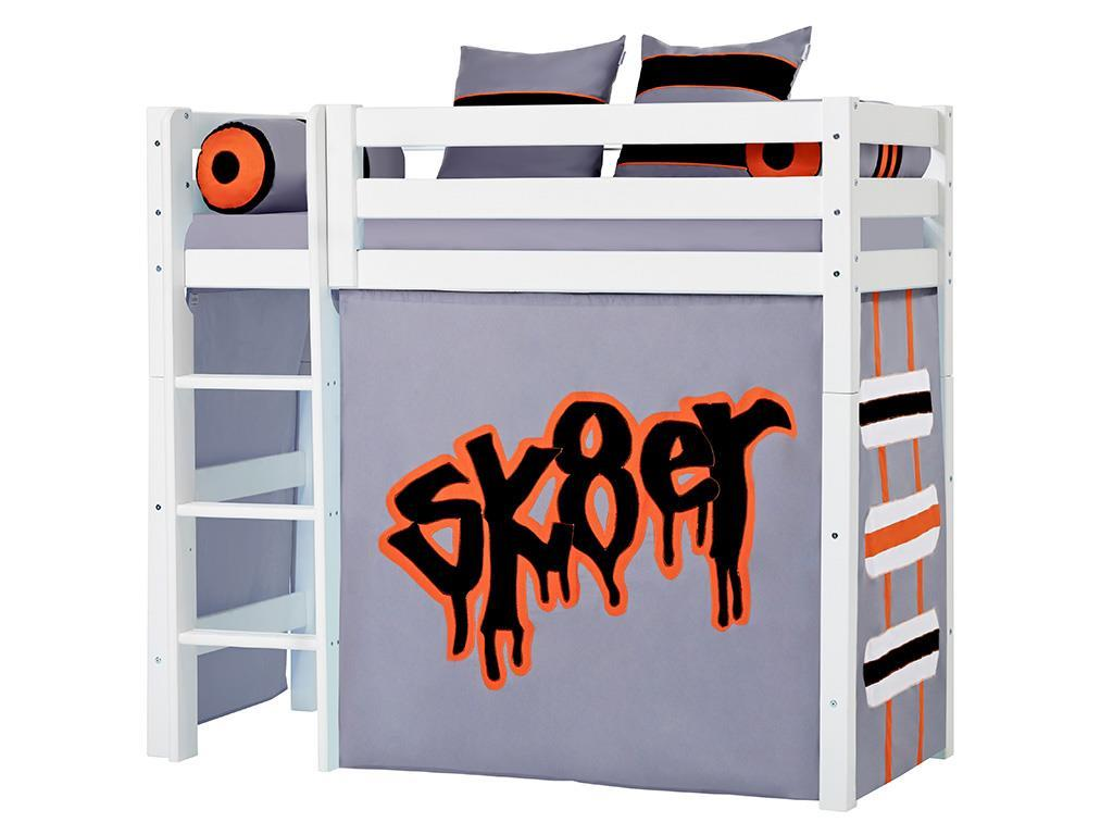 hoppekids skater vorhang f r midisleeper etagenbett 70x160cm. Black Bedroom Furniture Sets. Home Design Ideas