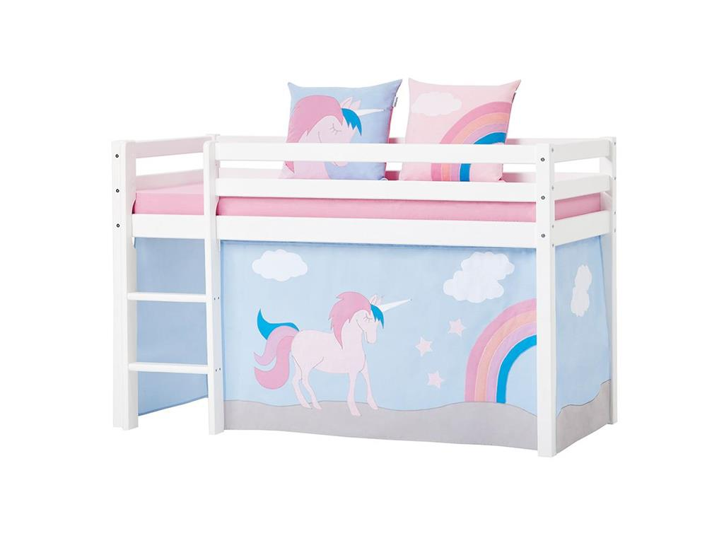 hoppekids unicorn vorhang f r spielbett oder etagenbett 70x160cm. Black Bedroom Furniture Sets. Home Design Ideas