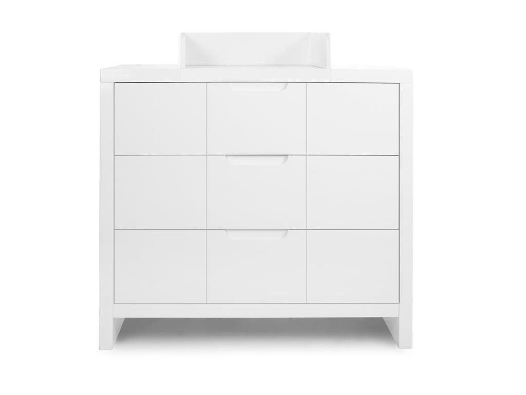 Childhome wickelkommode wei mit 3 schubladen quadro white for Sessel quadro