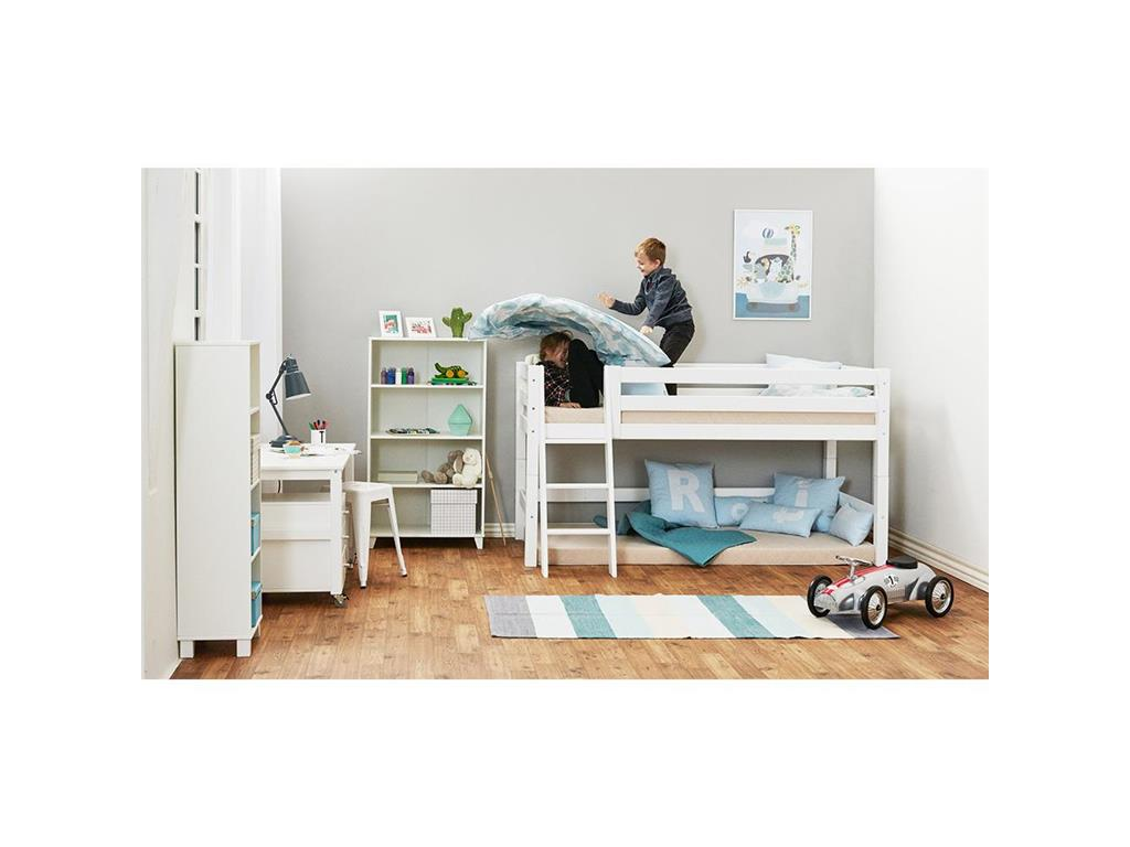 hoppekids premium halbhohes bett mit schr ger leiter und lattenrost. Black Bedroom Furniture Sets. Home Design Ideas