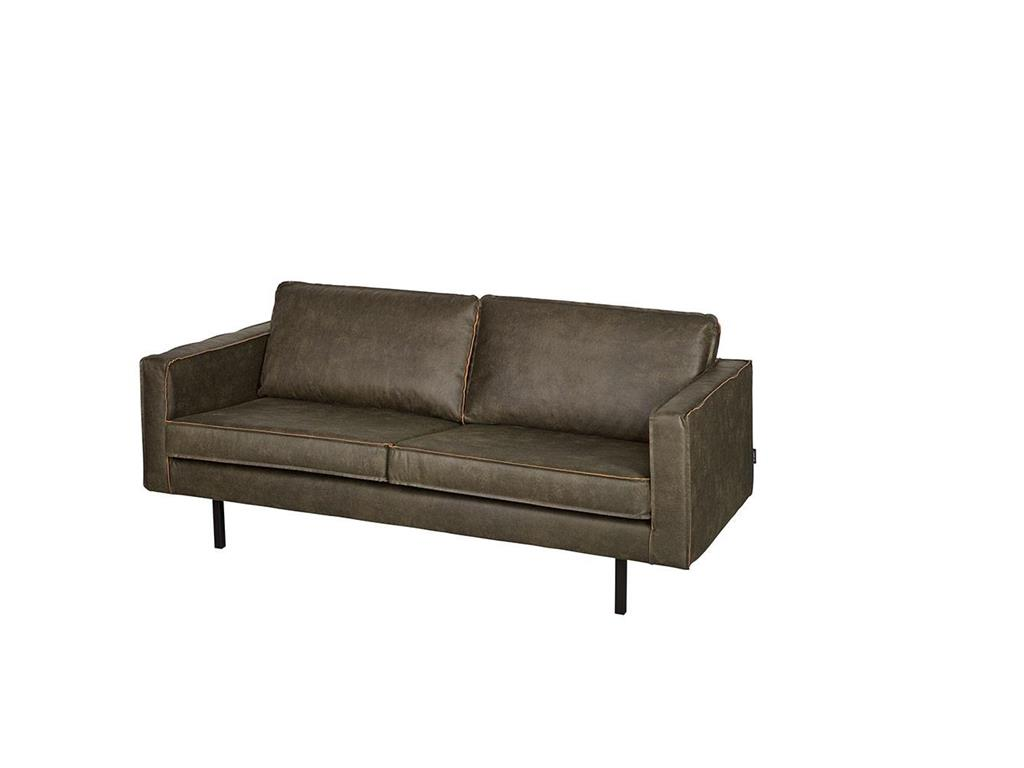 Bepurehome rodeo sofa lederlook army 2 5 sitzer for Sofa 5 sitzer