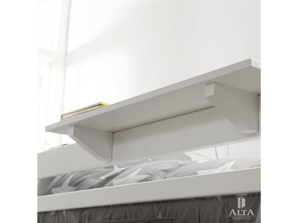 alta furniture bettablage 20x80cm snow white. Black Bedroom Furniture Sets. Home Design Ideas
