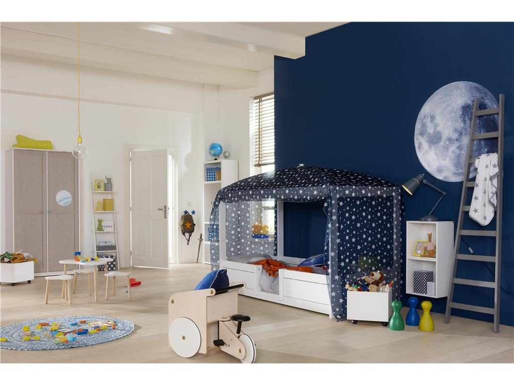 lifetime kidsroom betthimmel f r 4 in 1 bett blue star lifetime original. Black Bedroom Furniture Sets. Home Design Ideas
