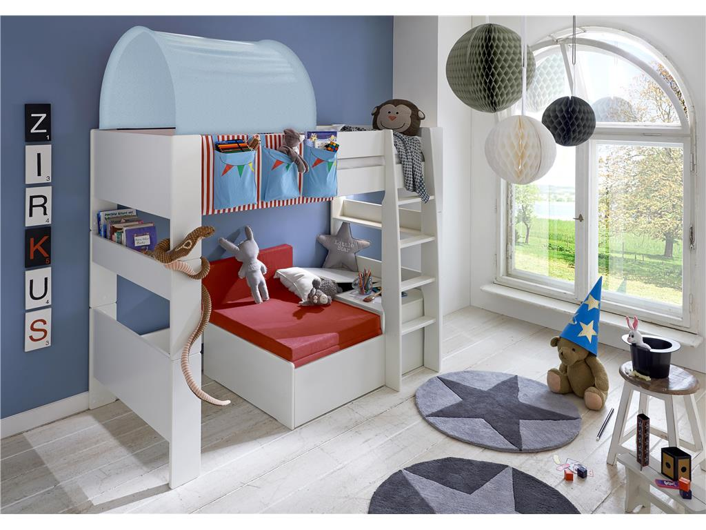 steens betttunnel f r kinderbett hellblau ritter. Black Bedroom Furniture Sets. Home Design Ideas