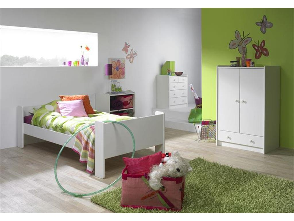 steens for kids einzelbett wei mit lattenrost bettliege 90x200cm. Black Bedroom Furniture Sets. Home Design Ideas
