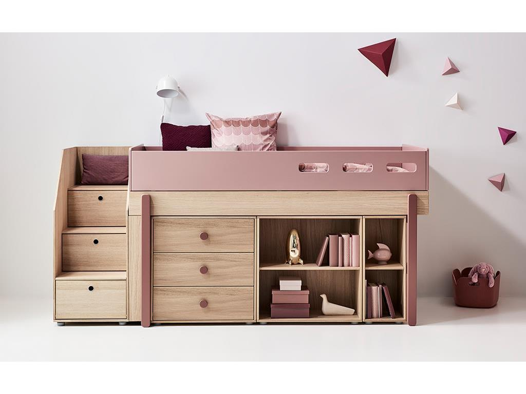 kinderbett mit stauraum 123 flexa popsicle 3er etagenbett mit stauraum treppe flexa popsicle. Black Bedroom Furniture Sets. Home Design Ideas