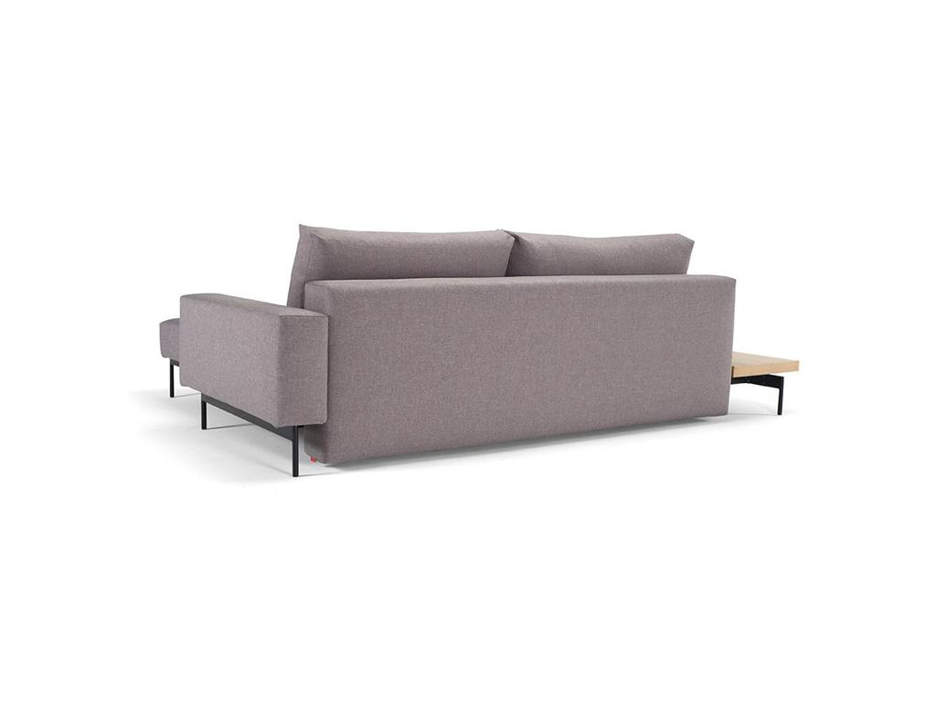 innovation bragi sofa hellgrau mit armlehne kissen und tisch aus eiche. Black Bedroom Furniture Sets. Home Design Ideas