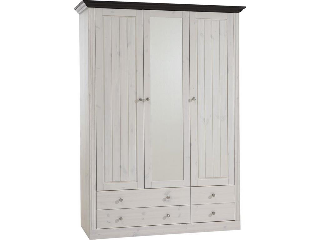 steens kleiderschrank kiefer 3 t rig monaco. Black Bedroom Furniture Sets. Home Design Ideas