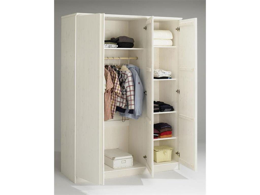 dolphin kleiderschrank mit 3 t ren softclose h he 205cm kiefer. Black Bedroom Furniture Sets. Home Design Ideas