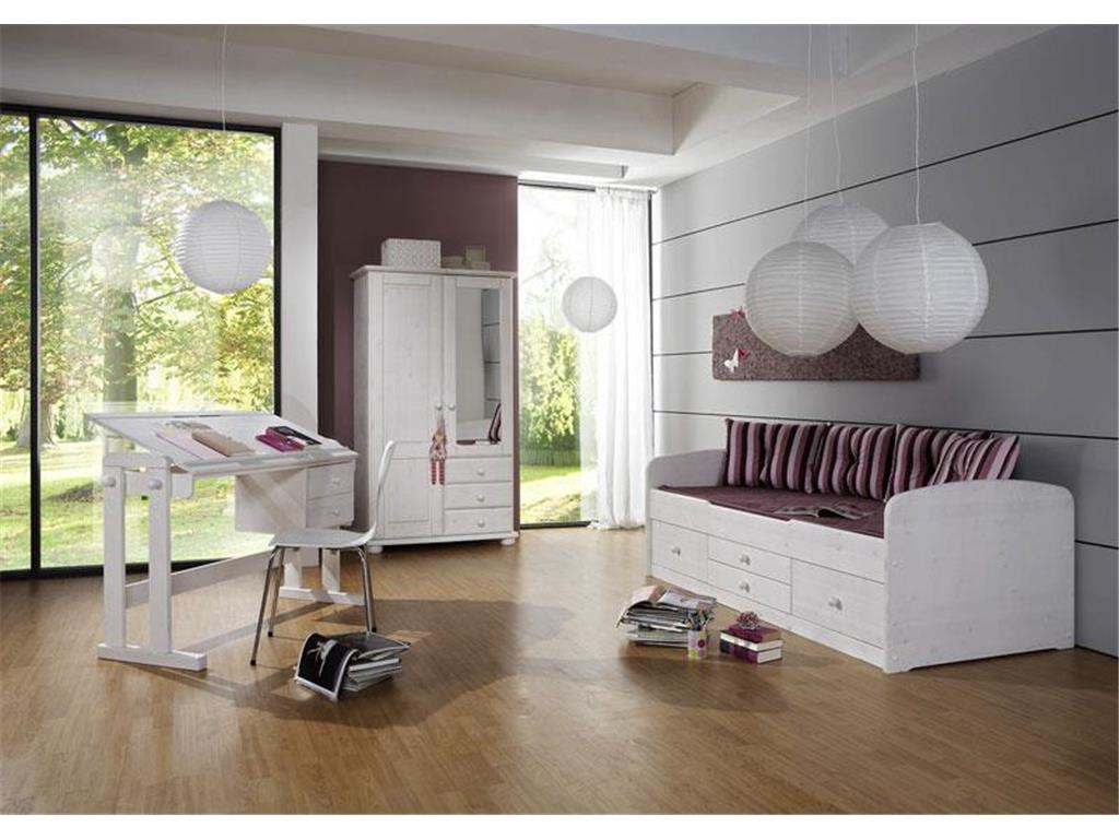 dolphin kojenbett wei mit schubladen kiefer wei. Black Bedroom Furniture Sets. Home Design Ideas