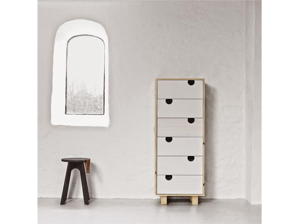karup kommode mit 6 schubladen kiefer natur wei house. Black Bedroom Furniture Sets. Home Design Ideas
