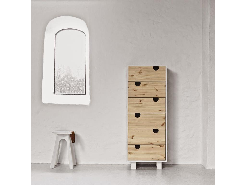 karup design kommode mit 6 schubladen kiefer wei natur karup house. Black Bedroom Furniture Sets. Home Design Ideas
