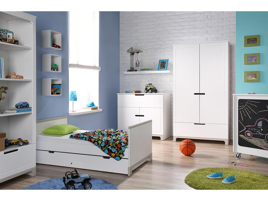 pinio mini kleiderschrank 2 t rig wei grau. Black Bedroom Furniture Sets. Home Design Ideas
