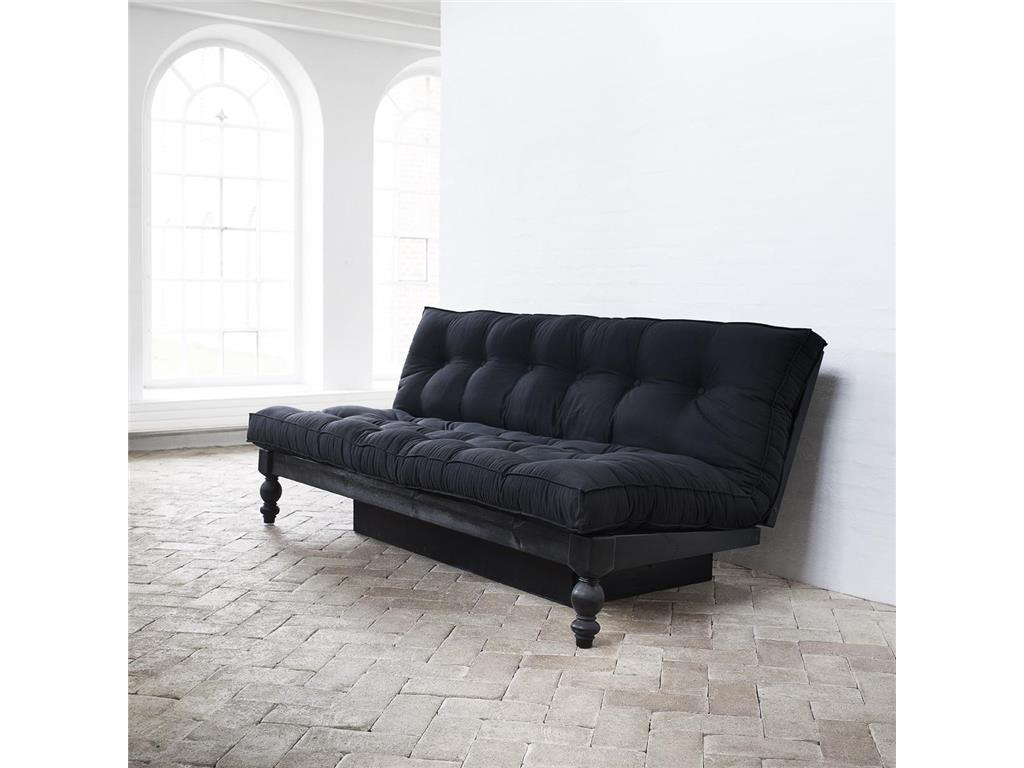 karup schlafsofa schwarz mit futon matratze schwarz rock o. Black Bedroom Furniture Sets. Home Design Ideas