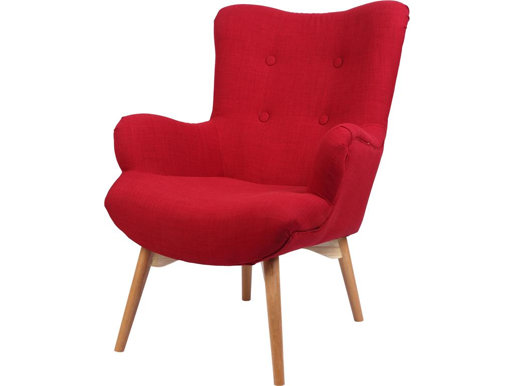 Bhp best home products sessel rot mit holzf en for Sessel in rot