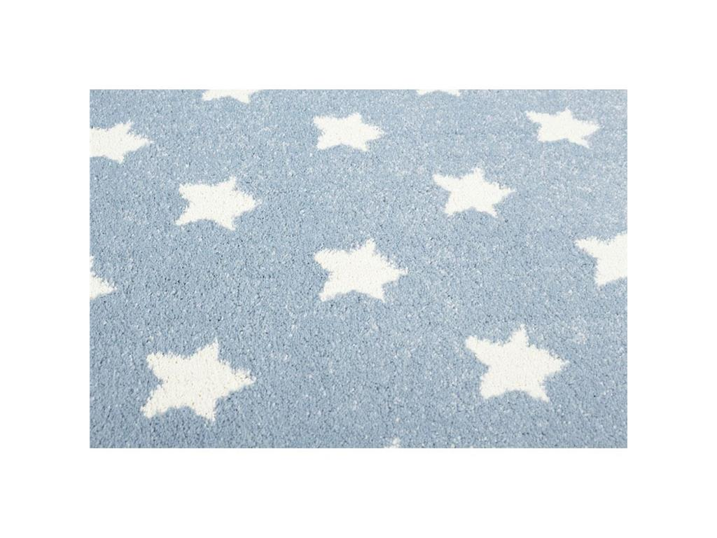 livone happy rugs teppich little stars blau wei 120x180cm. Black Bedroom Furniture Sets. Home Design Ideas