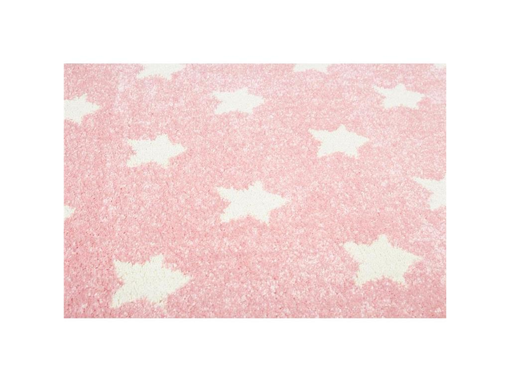 livone happy rugs teppich little stars rosa wei 160x230cm. Black Bedroom Furniture Sets. Home Design Ideas
