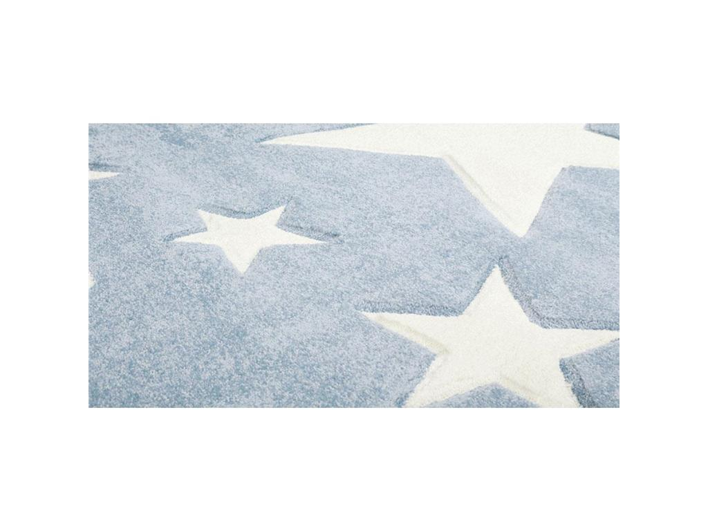 livone teppich stars blau wei 80x150cm happy rugs. Black Bedroom Furniture Sets. Home Design Ideas