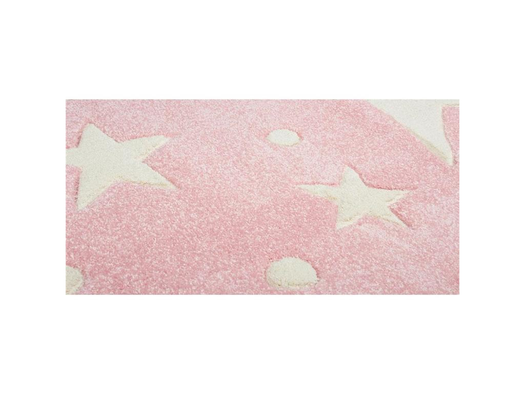 livone teppich stars rosa wei 160x230cm happy rugs. Black Bedroom Furniture Sets. Home Design Ideas