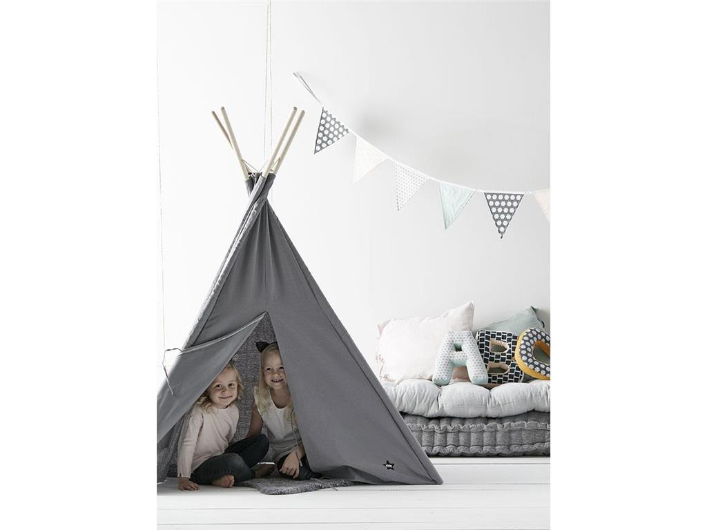 kids concept tipi zelt grau kids concept. Black Bedroom Furniture Sets. Home Design Ideas