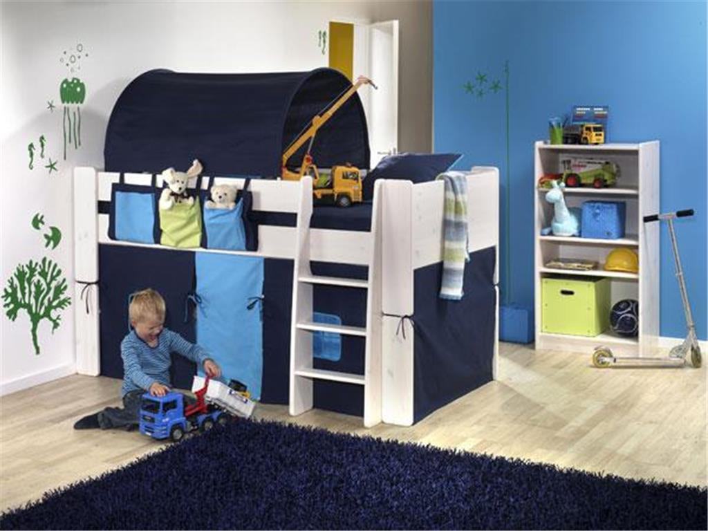 steens vorhang blau f r hochbett for kids. Black Bedroom Furniture Sets. Home Design Ideas