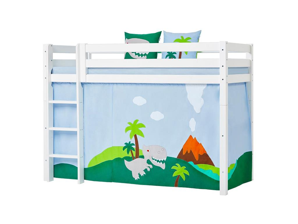 hoppekids dinosaurier vorhang f r hochbett midisleeper etagenbett 90x200cm. Black Bedroom Furniture Sets. Home Design Ideas