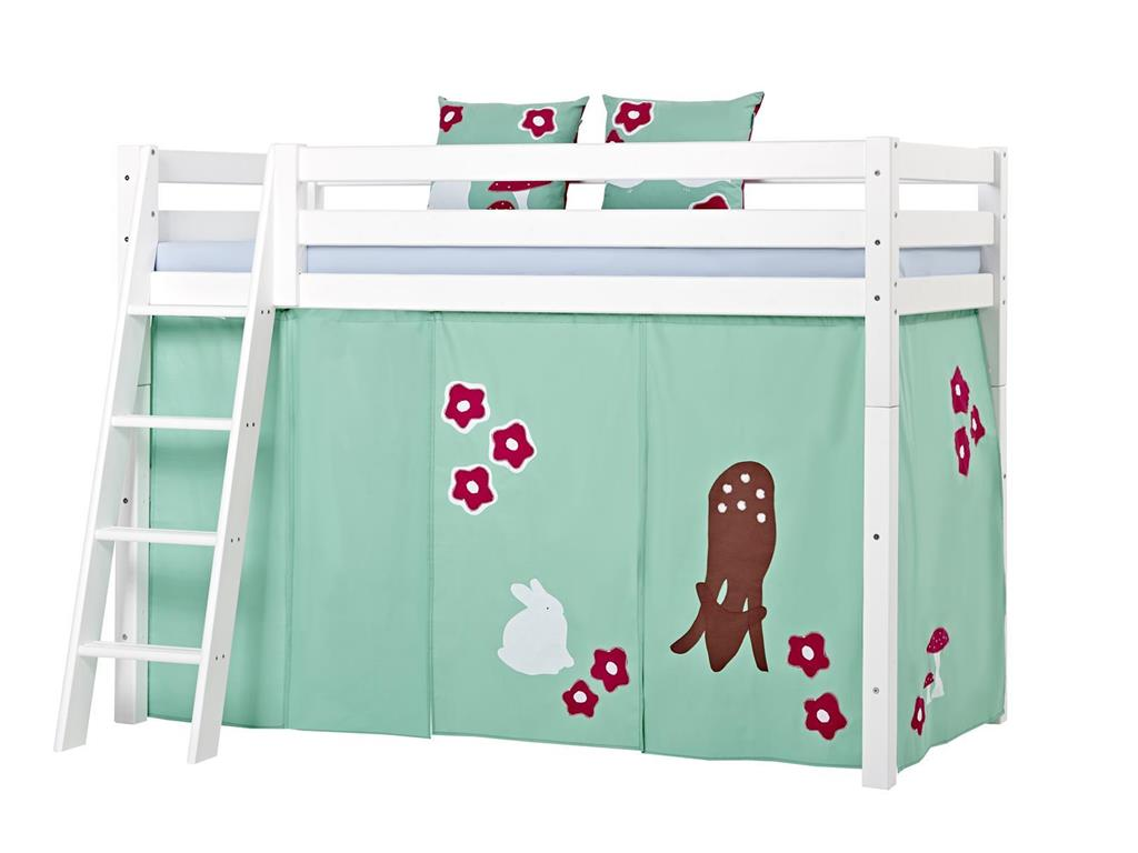 hoppekids forest vorhang f r hochbett midisleeper etagenbett 90x200cm. Black Bedroom Furniture Sets. Home Design Ideas