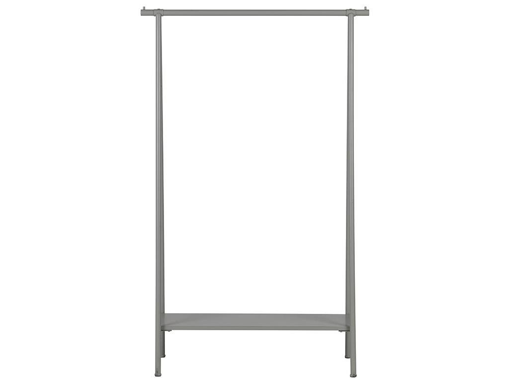 Vtwonen garderobe mit ablage betongrau hang out for Garderobe ablage metall