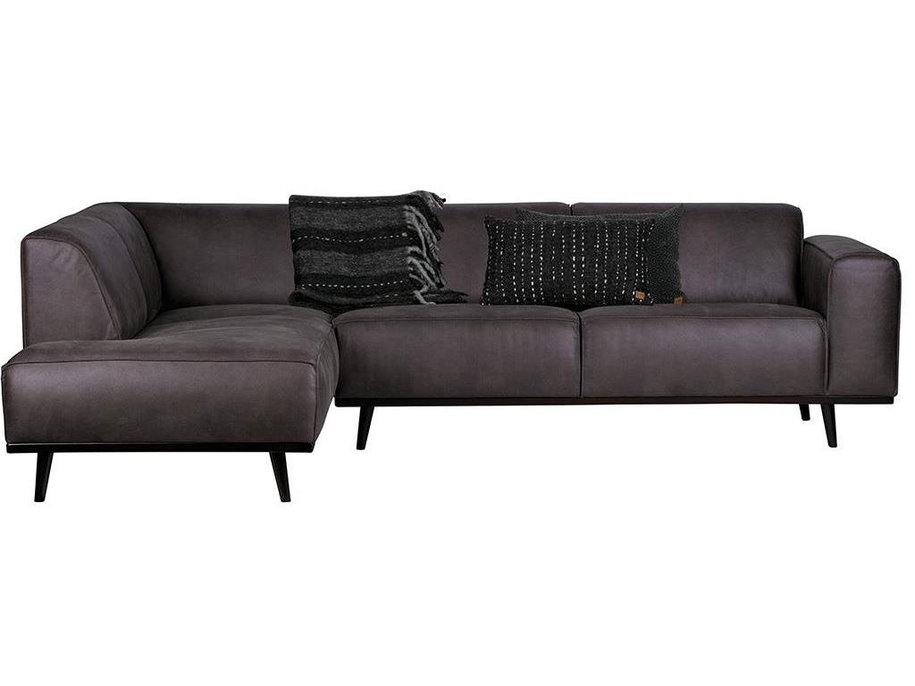 Bepurehome statement eckcouch links lederlook grau for Eckcouch links
