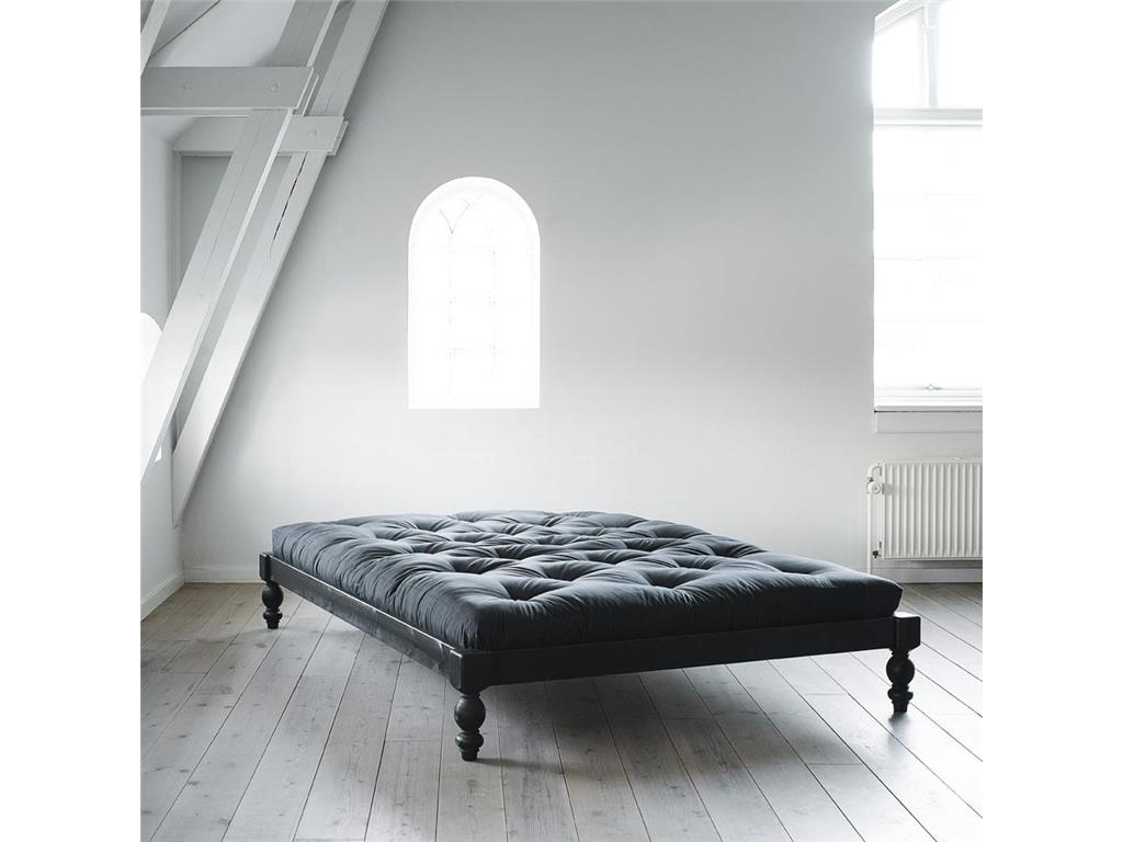 karup futonbett mit matratze 140x200cm rock o. Black Bedroom Furniture Sets. Home Design Ideas