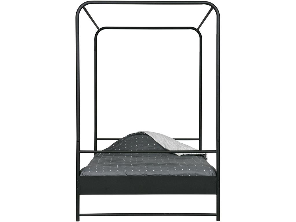 vtwonen bunk himmelbett metall schwarz 120x200cm. Black Bedroom Furniture Sets. Home Design Ideas
