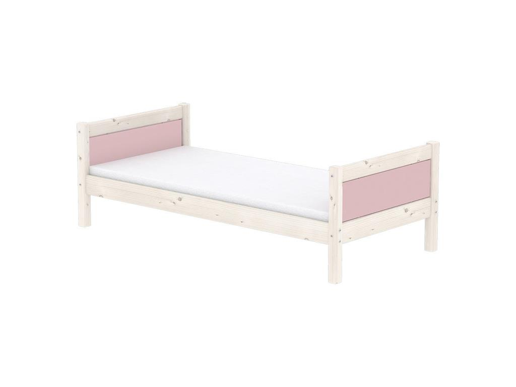 flexa harmony hochbett mit g stebett und gerader leiter nordic rose. Black Bedroom Furniture Sets. Home Design Ideas